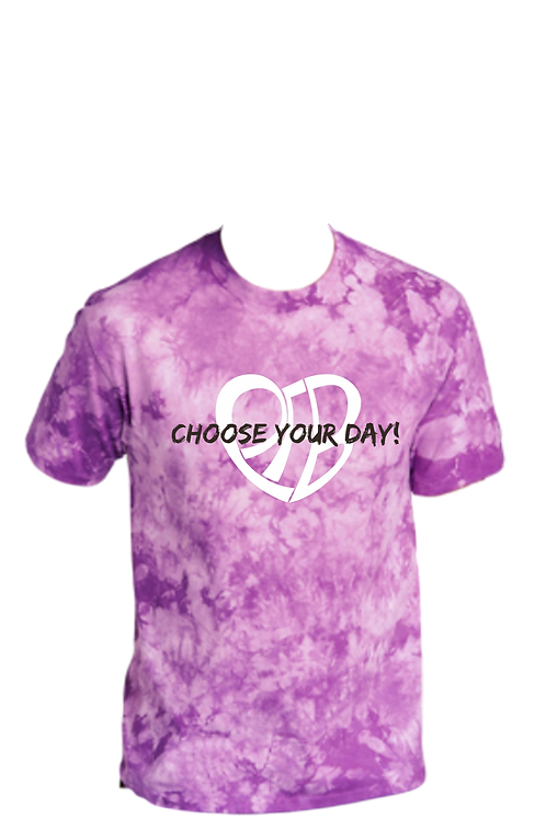 CHOOSE YOUR DAY Logo Purple Tie Dye