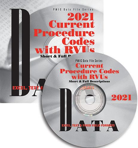 CPT/RVU 2021 Data Content (Single user)