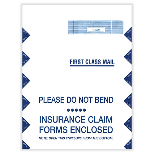 Jumbo CMS-1500 Claim Envelopes (100)