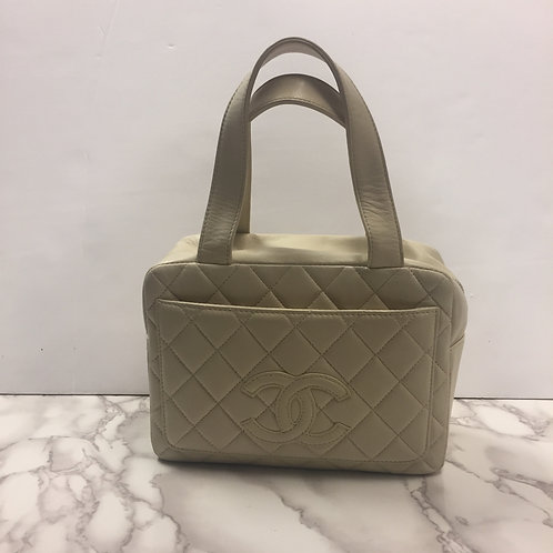 Chanel Quilt Pillbox Bag with Certification Card