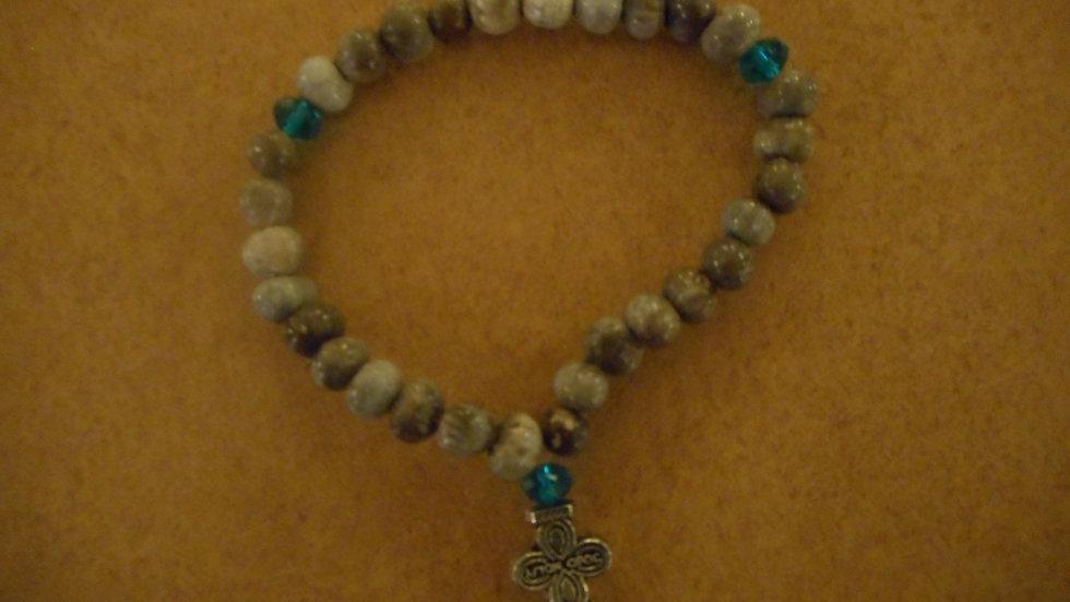 Panagia Tears beads 30 knots blue beads