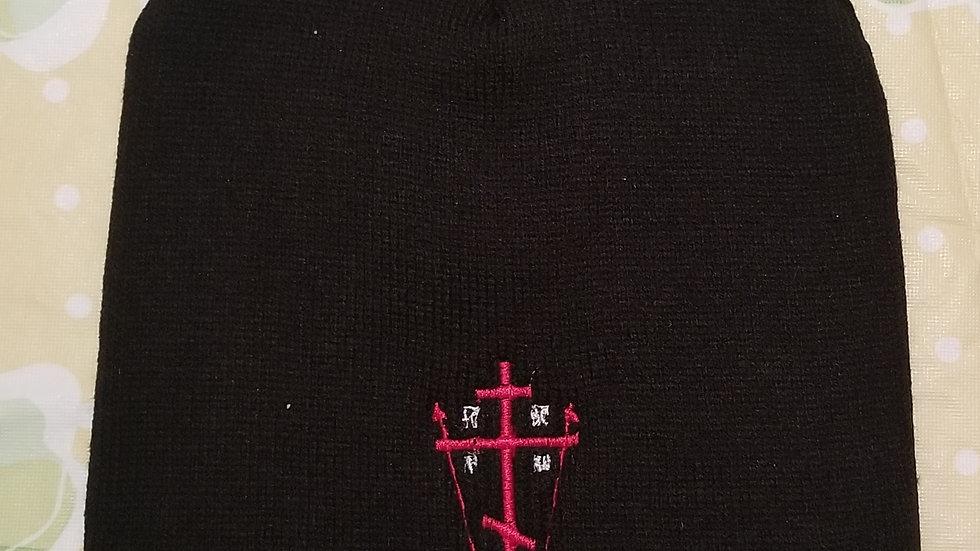 Calvary Cross Beanie Black