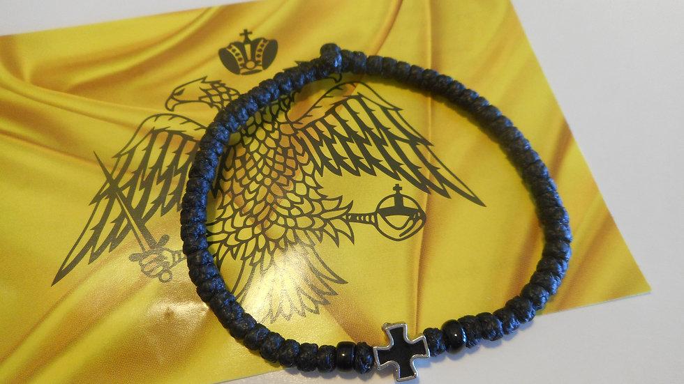 Athos Komboskini bracelet black with black beads