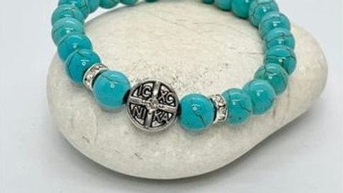Beaded bracelet turquoise