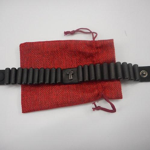 Men's Lestovka 20 step bracelet, wide, brown