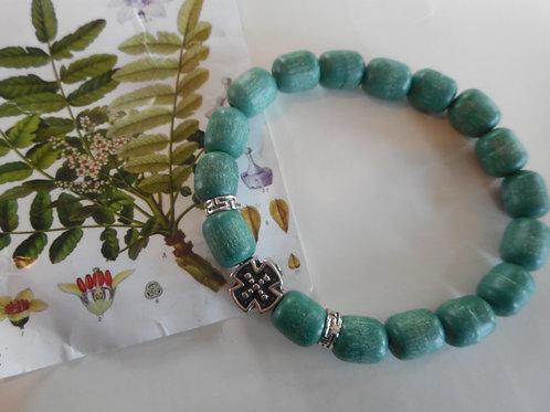 Prayer incense bracelet green beads