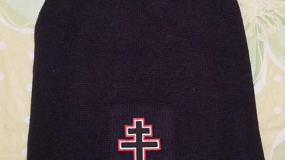 Three Bar Cross beanie Black