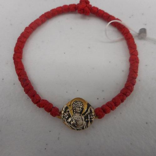 Gold Angel Komboskini bracelet red