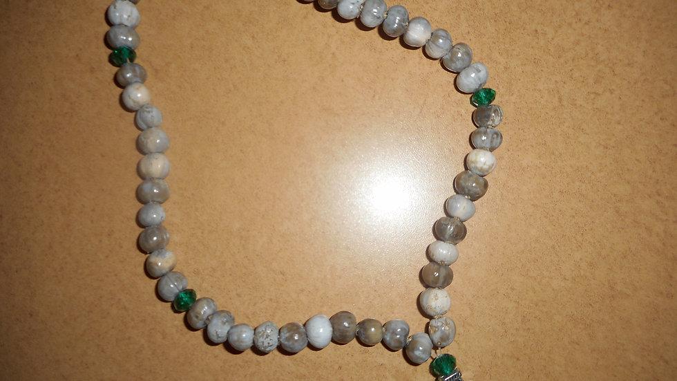 Panagia Tears prayer rope 50 knots green beads