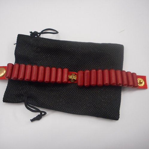 Women's Lestovka 20 step bracelet, narrow, red