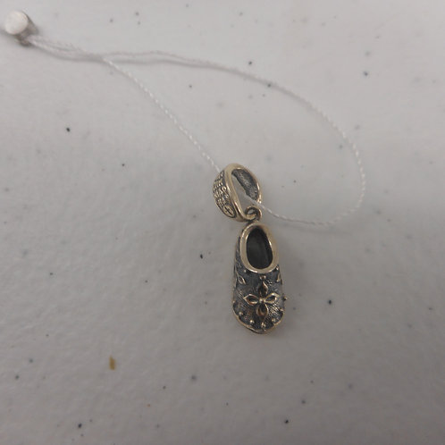 Silver Pendant St Spyridon's shoe with neckrope
