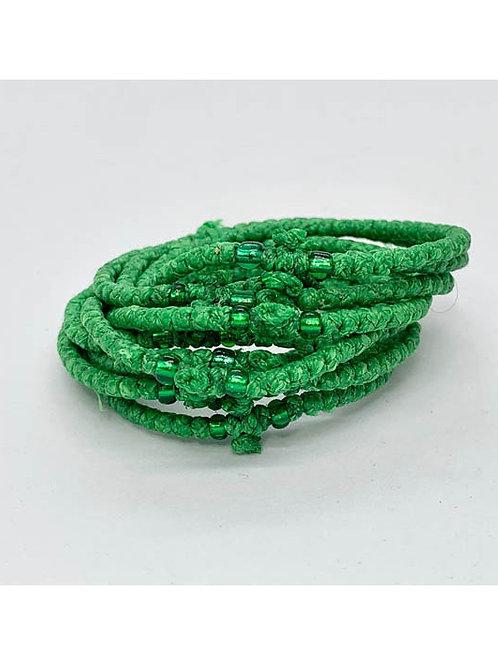 Athos Komboskini green with green beads