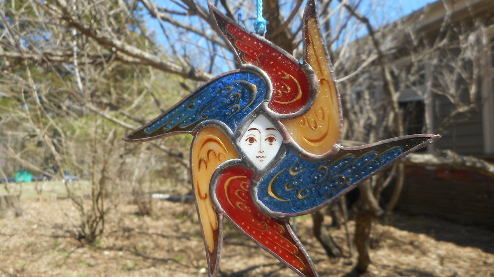 Stained Glass Seraph (Angel) Ornament