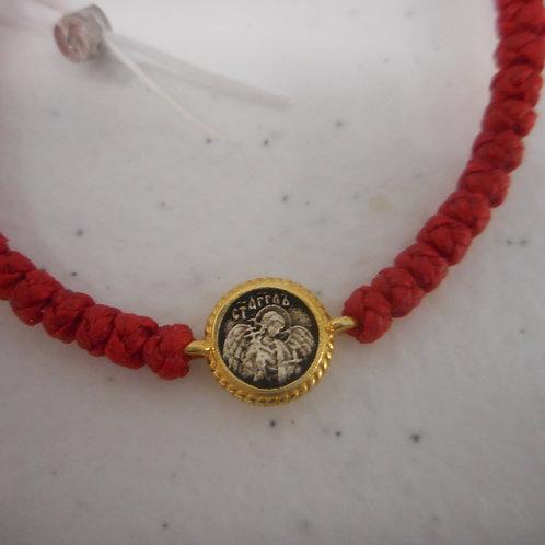 Guardian Angel gilt komboskini bracelet red