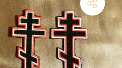 Three-Bar Cross Patch Red/White