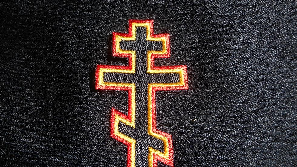 Three Bar Cross Patch Red/Yellow