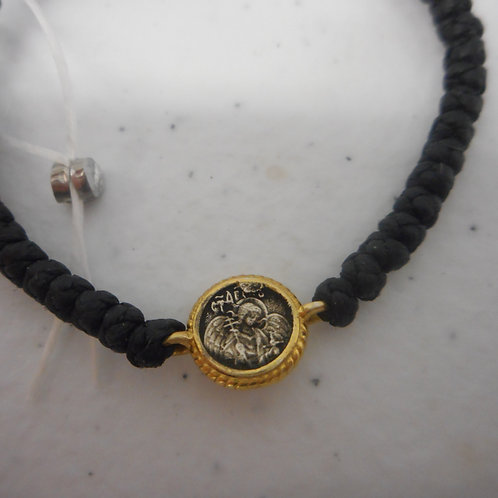 Guardian Angel gilt komboskini bracelet black