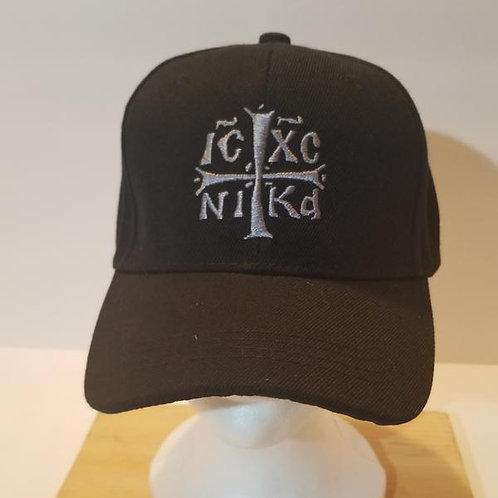 IC XC NIKA Embroidered Cap Black/Silver