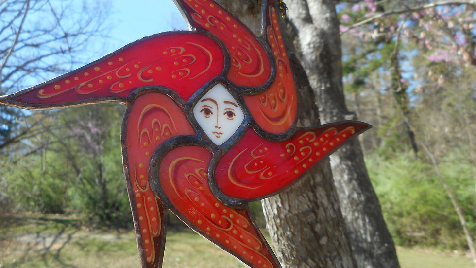 Stained Glass Seraphim (Angel) Ornament