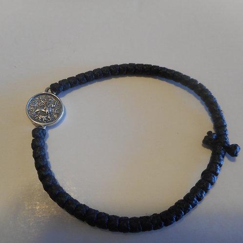 St George Silver medallion Komboskini bracelet