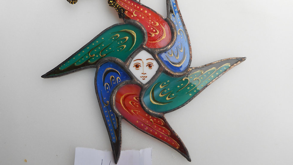 Stained Glass Seraph Ornament