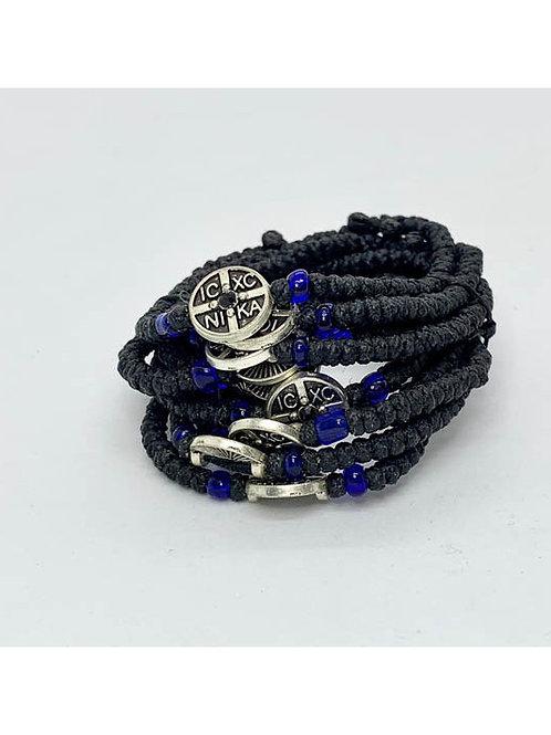 Athos Komboskini bracelet black with NiKA medallion an a product