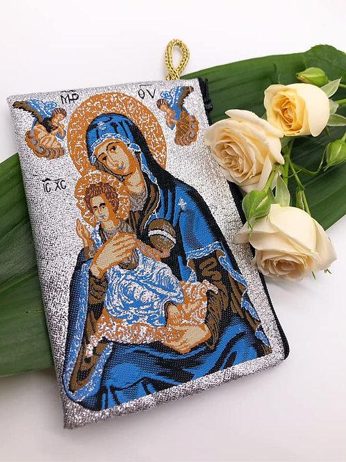 Mt.Athos bag with Panagia in blue