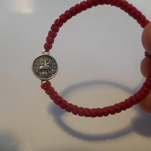 St George Silver medallion Komboskini