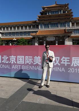 Andrea Pescio al padiglione della Biennale
