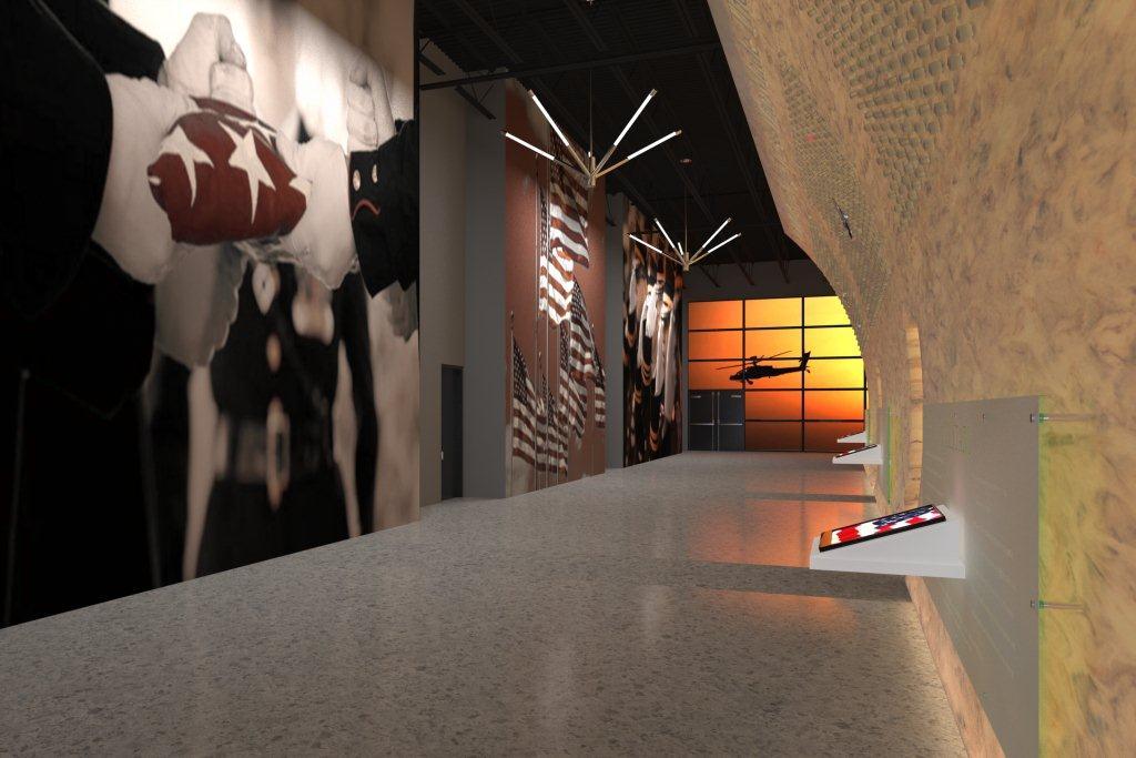 3D Memorial Wall View