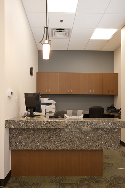 Check in - out desk