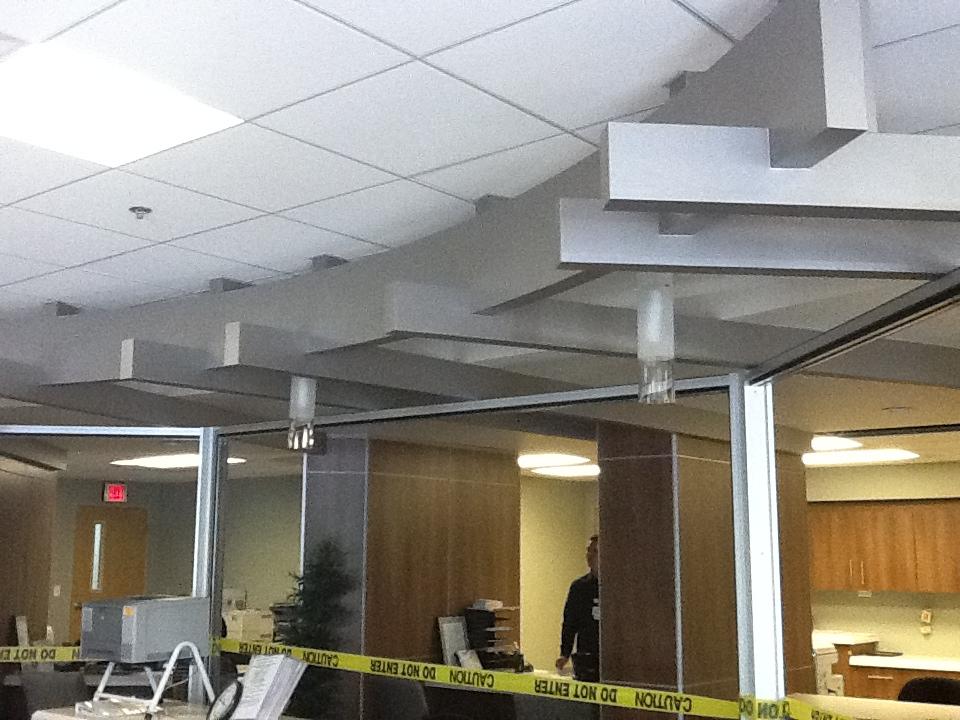 Outpatient Ceiling - Const. Photo
