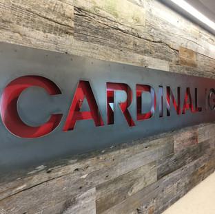 office logo wall interior design