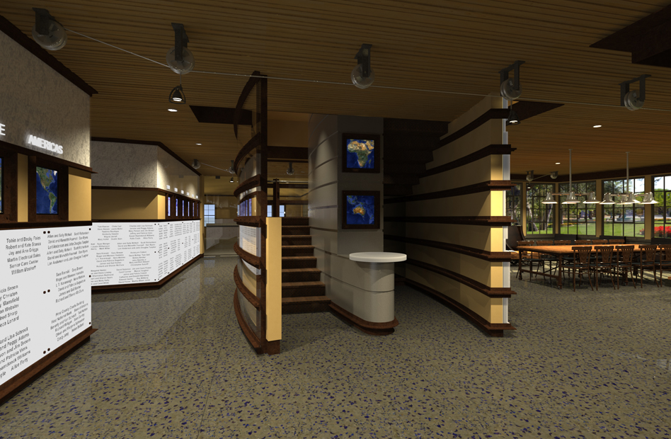 Tbird Donor Stairs - Rendering