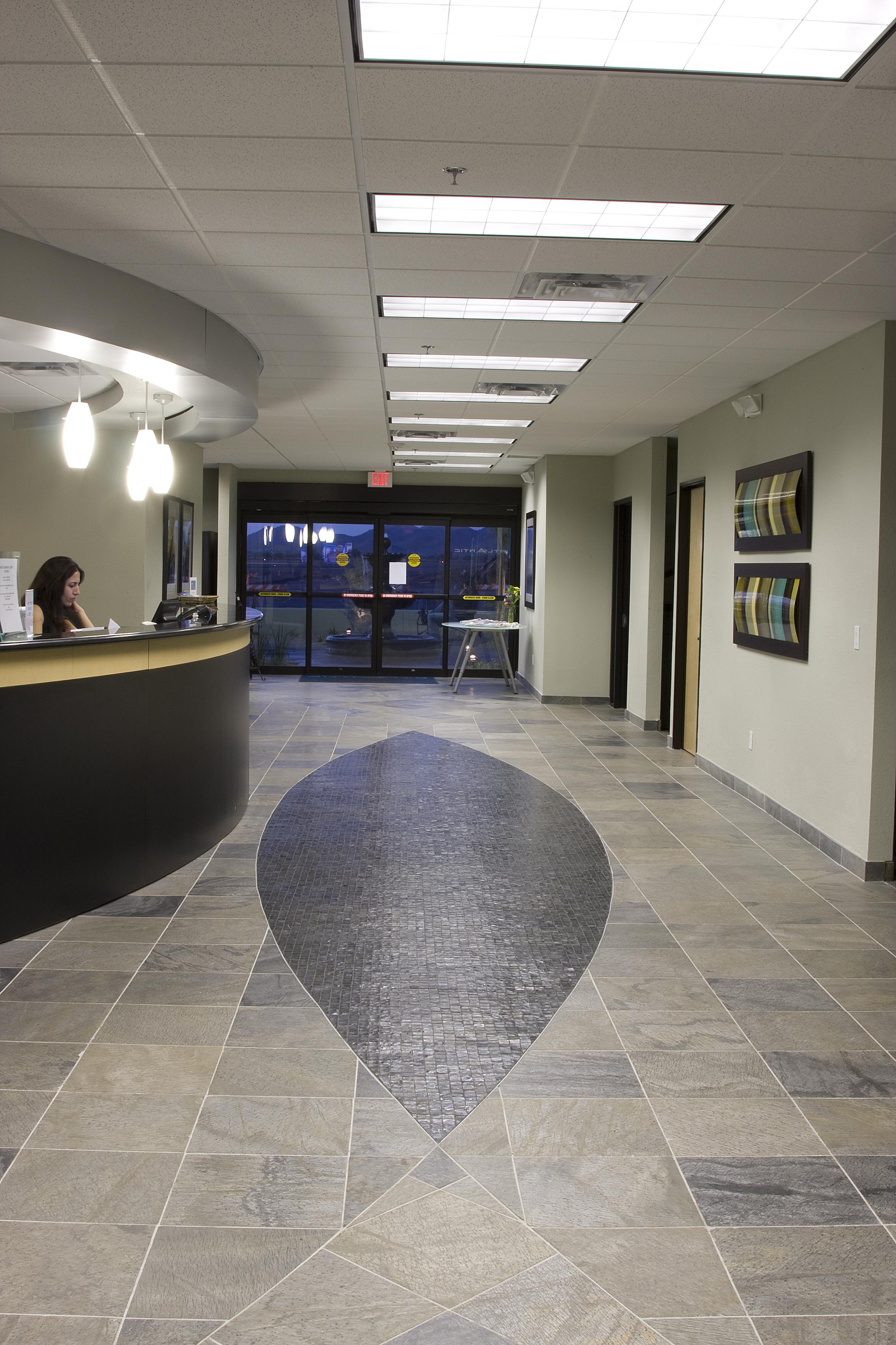 Atlantic Aviation Glass Tile Floor