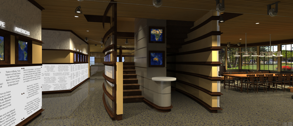 Tbird Donor Stairs Rendering