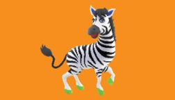 Zelda the Zebra Business Card Option