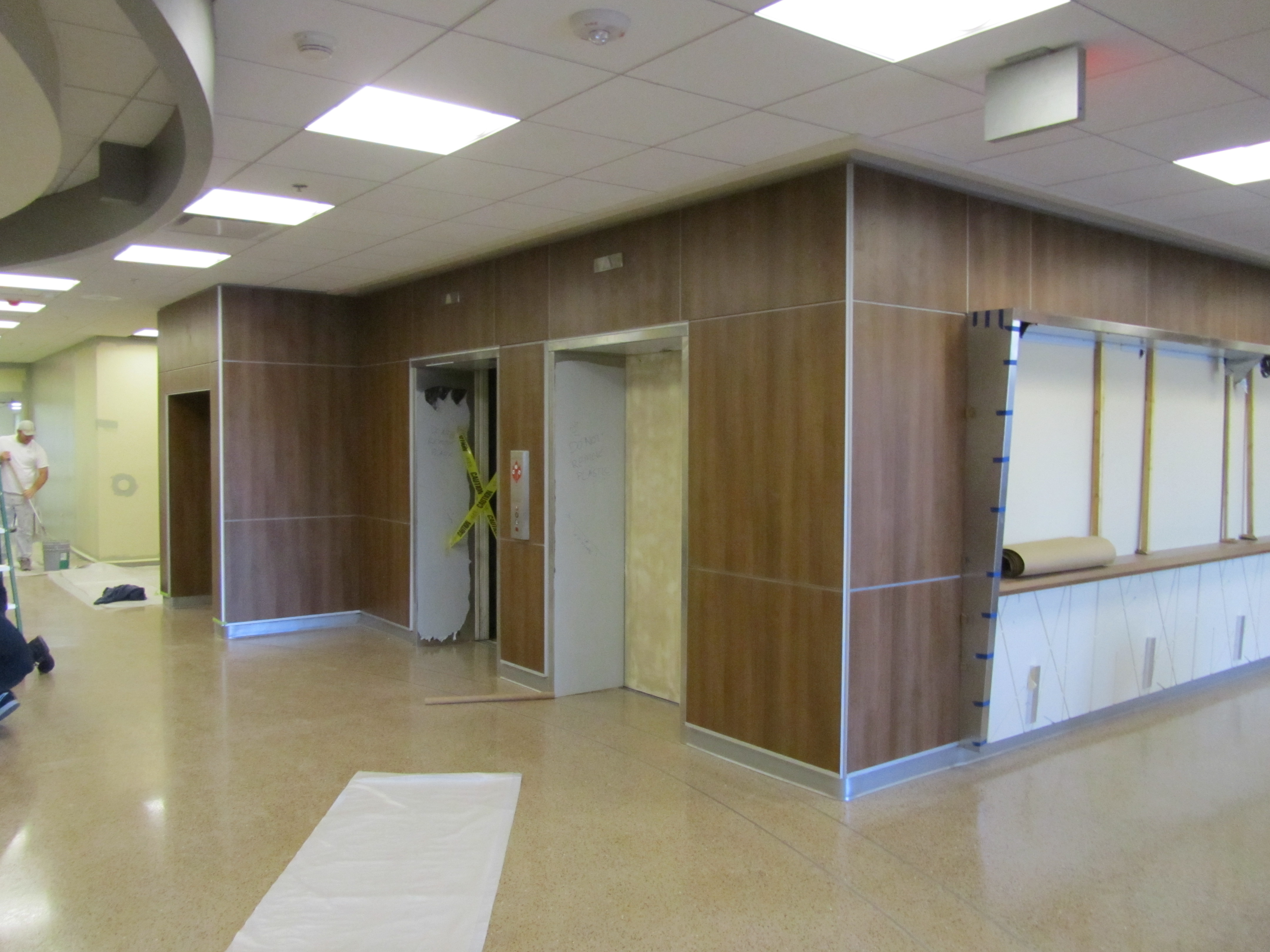 Elevator Bank/Feature Wall