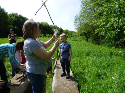 Stick Man Day at The Hedgehog Club in Deer Park Wood