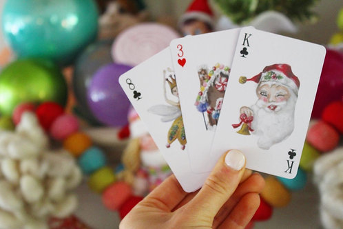 Solely Foster Christmas Playing Cards