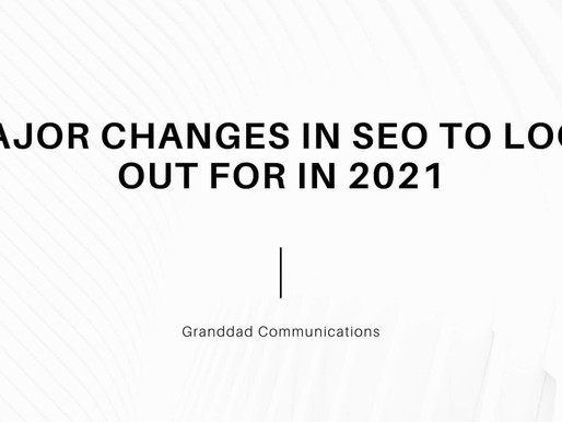 Major Changes In SEO To Look Out For In 2021