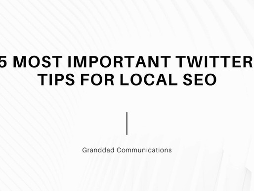 5 most important Twitter Tips for Local SEO