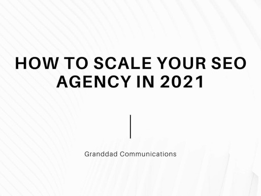 How to scale your SEO agency in 2021
