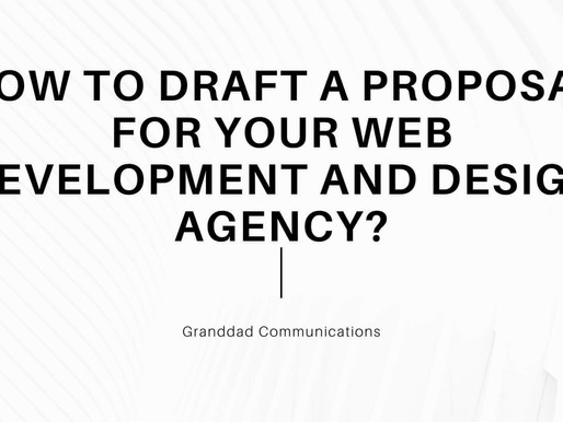 How to Draft a Proposal for your Web development and Design agency?
