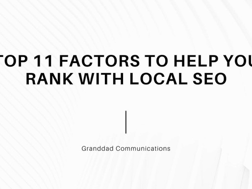 Top 11 factors to help you rank with local SEO