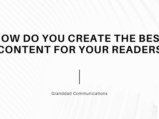 How Do You Create The Best Content For Your Readers?