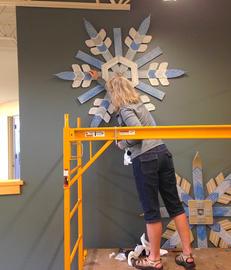 Installation of snowflakes