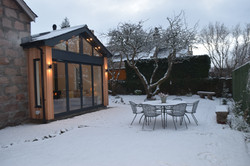 New Patio in Winter