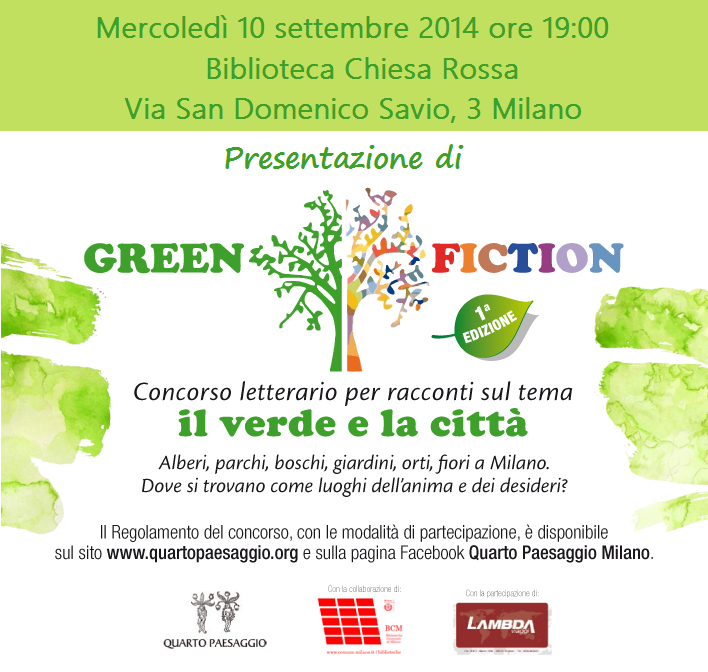 PresentazioneGreen Fiction 10/9/2014
