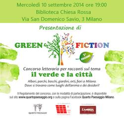 PresentazioneGreen Fiction 10/9/2014